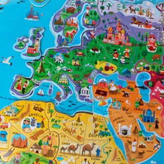 Janod world map puzzle magnetic world spanish version janod world map puzzle magnetic world spanish version 2 gumiabroncs Gallery