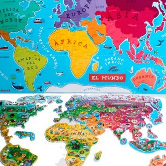 Janod world map puzzle magnetic world spanish version janod world map puzzle magnetic world spanish version 3 gumiabroncs Gallery