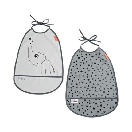 Baberos Done by Deer Pack de 2 Elphee Gris
