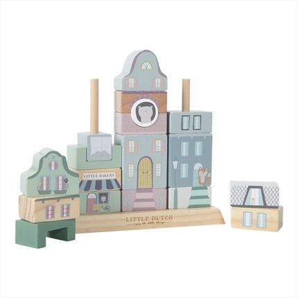 Bloques edificios Little Dutch madera