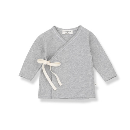 Camiseta Bebé Alba 1+ in the family gris