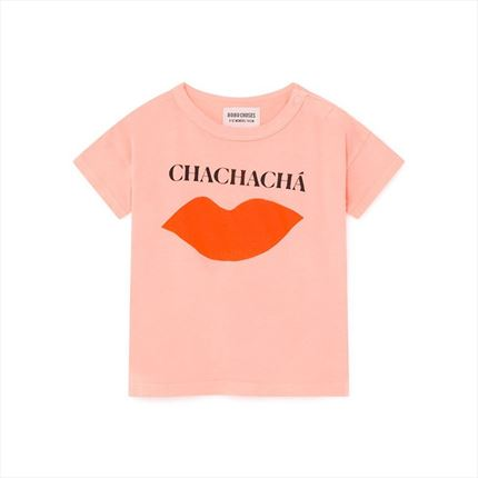 Camiseta Bebé Bobo Choses Kiss rosa