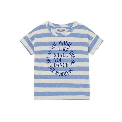 Camiseta Bebé Bobo Choses Stripes azul