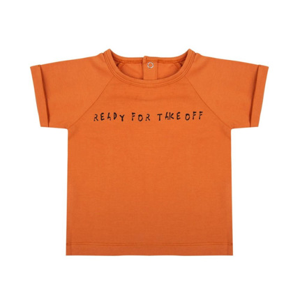 Camiseta Bebé Little Indians Ready For Take Off naranja