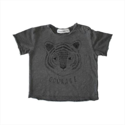 Camiseta Dear Mini Tigre antracita