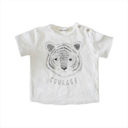 Camiseta Dear Mini Tigre blanco