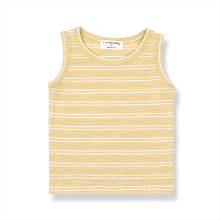 Camiseta tirantes rayas Risto 1+ in the family amarillo