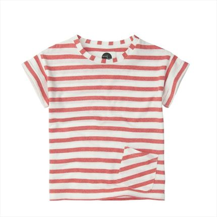 Camiseta Sproet & Sprout Stripe Red blanco y rojo