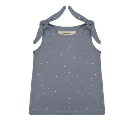 Camiseta tirantes Little Indians Dots azul