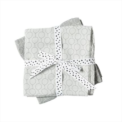 Muselinas Done by Deer 120x120 Pack 2 Globos gris