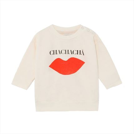 Sudadera Bebé Bobo Choses Kiss crudo