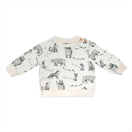 Sudadera Dear Mini Animales crudo