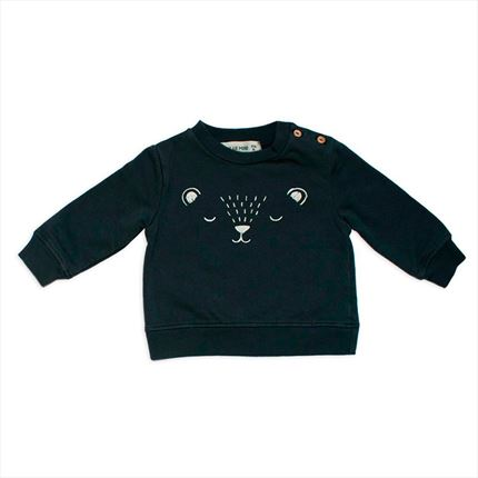 Sudadera Dear Mini Cara Oso antracita