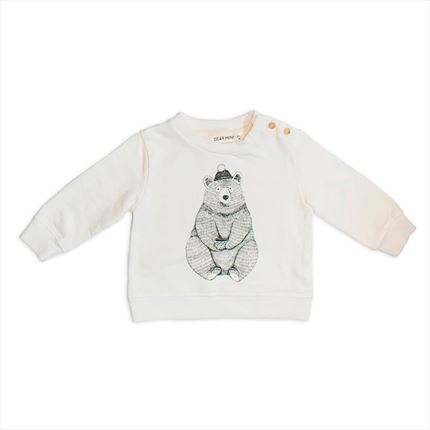 Sudadera Dear Mini Oso crudo