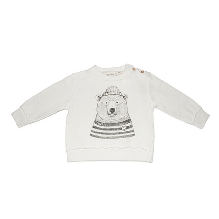 Sudadera Oso Polar Dear Mini Crudo